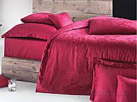Постельное белье Issimo Home Magnus Claret Red Двуспальный евро комплект