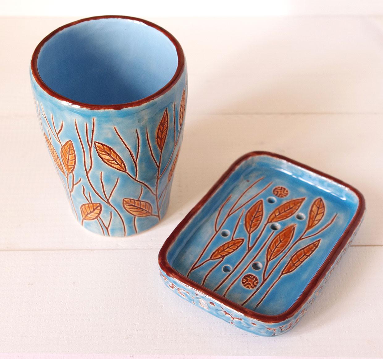 """Набор для ванной """"Прованс - колоски"""", керамика, Украина"""