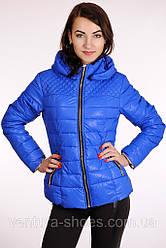 Осенняя женская куртка  APPLE - 8031 син скидка