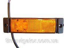 Габарит боковой светодиодный LED желтый (LD128)