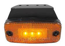 Габарит боковой светодиодный LED желтый (LD180)