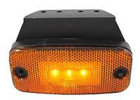 Габарит боковой светодиодный LED желтый с кронштейном ( LD180 )