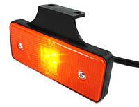 Габарит боковой светодиодный LED желтый с кронштейном LD 161