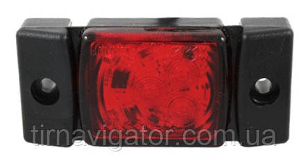 Габарит светодиодный задний LED (красный, 72х33) (LD142)