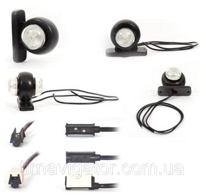 Габарит светодиодный задний LED (красно-белый, короткий) WAS W56