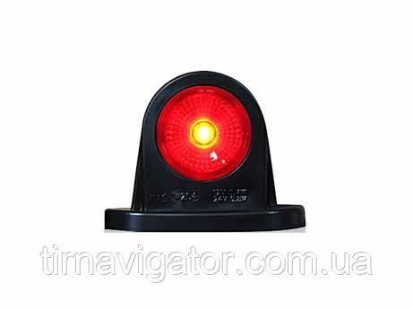 Габарит светодиодный задний LED (красно-белый, прямой, короткий)