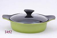 4586 Fissman Низька каструля ASSORTI 24 см / 2,5 л зі скляною кришкою