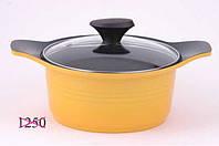 4584 Fissman Каструля ASSORTI 20 см / 2,5 л зі скляною кришкою