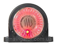 Габарит светодиодный на кабину LED (красный, круглий)