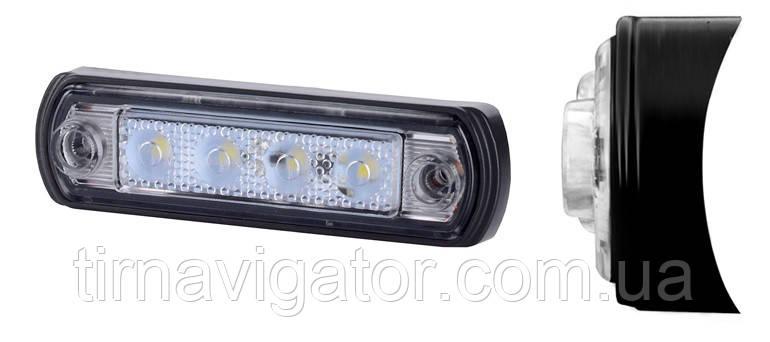 Габарит светодиодный на кабину MAN 100*26 LED (белый) (LD943)