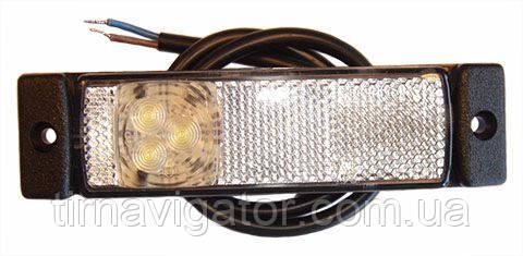 Габарит світлодіодний передній LED (білий) (LD127)