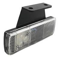 Габарит светодиодный передний LED (белый, с кронштейном, левый) (LD454)