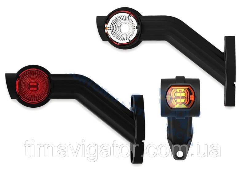 Габаритний-бічний ріг LED (45* довгий, біло-червоно-жовтий, лівий) (FT-140