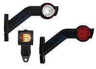 Габаритный-рог боковой LED (45* длинный, бело-красно-желтый, правый) (FT-140)