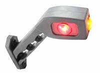 Габаритный-рог боковой LED (45* длинный, бело-красно-желтый, правый) (LD518R)