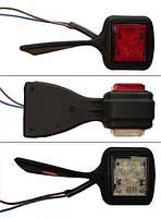 Габаритный-рог боковой LED (бело-красный, правый) (LD430)