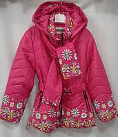 Куртка  демисезонная для девочки с 6-10 лет,розовая