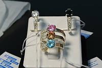 Кольцо из серебра с золотыми накладками 375 пробы - Загадка