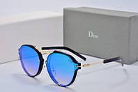 Солнцезащитные очки круглые Dior Eclat голубые
