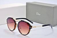 Солнцезащитные очки круглые Dior Eclat коричневые