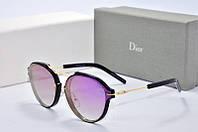 Солнцезащитные очки круглые Dior Eclat сиреневые