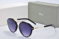 Солнцезащитные очки круглые Dior Eclat черные