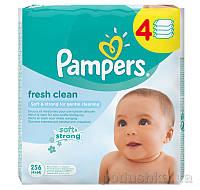 Детские влажные салфетки Pampers Fresh Clean Quatro, 256 шт