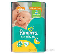 Подгузники Pampers New Baby-Dry Размер 2 (Mini) 3-6 кг, 17 шт