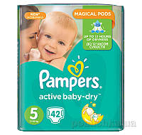 Подгузники Pampers Active Baby-Dry Размер 5 (Junior) 11-18 кг, 42 шт