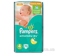 Подгузники Pampers Active Baby-Dry Размер 4 (Maxi) 8-14 кг, 70 шт