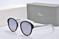 Солнцезащитные очки круглые Dior Sun зеркальные