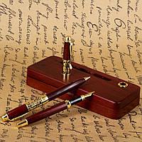 Эксклюзивные ручки в подарочном футляре с подставкой для визиток Albero Ode DS319269FB