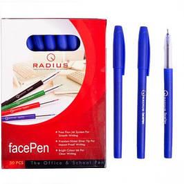 """Ручка """"FaсePen"""" RADIUS 50 штук, синяя"""
