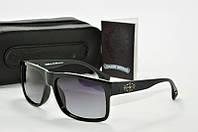 Солнцезащитные очки прямоугольные Chrome Hearts черные, фото 1