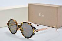 Солнцезащитные очки круглые Dior Umbrage лео, фото 1