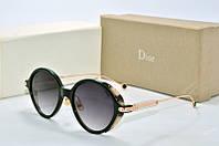 Солнцезащитные очки круглые Dior Umbrage черные, фото 1