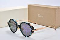 Солнцезащитные очки круглые Dior Umbrage черные с синим, фото 1