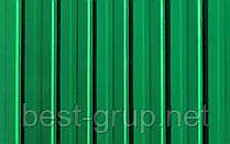 Профнастил Зеленый Китай 0,33мм, Размер: 1,5х0,95м, волна - 8мм