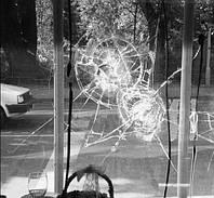 Укрепление стекол, бронирование стекла пленкой, тонировка