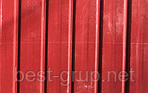 Профнастил Красный Китай 0,33мм, Размер: 1,5х0,95м, волна - 8мм