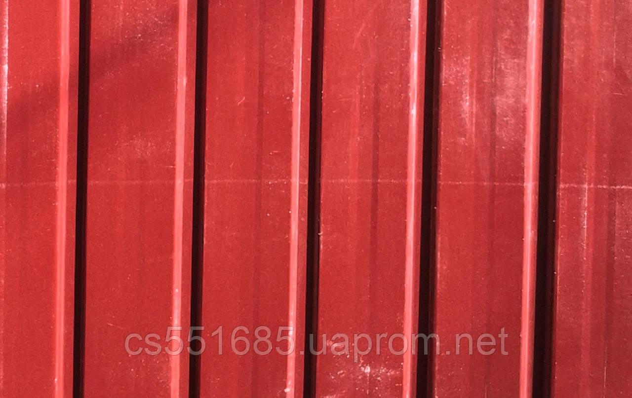 Профнастил Красный Китай 0,33мм, Размер: 2,0х0,95м, волна - 8мм