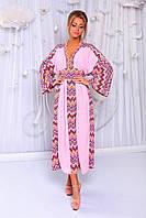 """Нежное шифоновое платье-кимоно """"Tokyo"""" с контрастными вставками"""