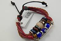 Оригинальный браслет из натуральной кожи с камнями