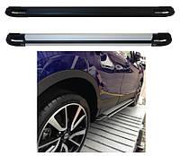 Nissan X-trail T31 2007-2014 гг. Боковые площадки Rainbow (2 шт., алюминий)