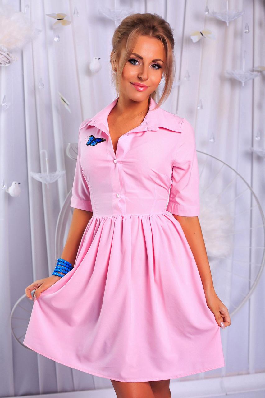 9ba8e334424 Летнее приталенное платье-мини