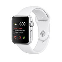 Apple Watch Series 2 38mm Silver Aluminum Case with White Sport Band (MNNW2)