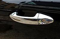 Ford Fiesta 2008+ и 2013+ гг. Накладки на ручки (4 шт., нерж.) OmsaLine - Итальянская нержавейка
