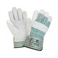 4286 Перчатки комбинированные х/б+спилок ЭКО