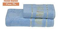 Бамбуковое полотенце Gursan Bamboo голубое (50х90)