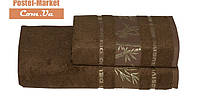 Бамбуковое полотенце Gursan Bamboo коричневое (50х90)